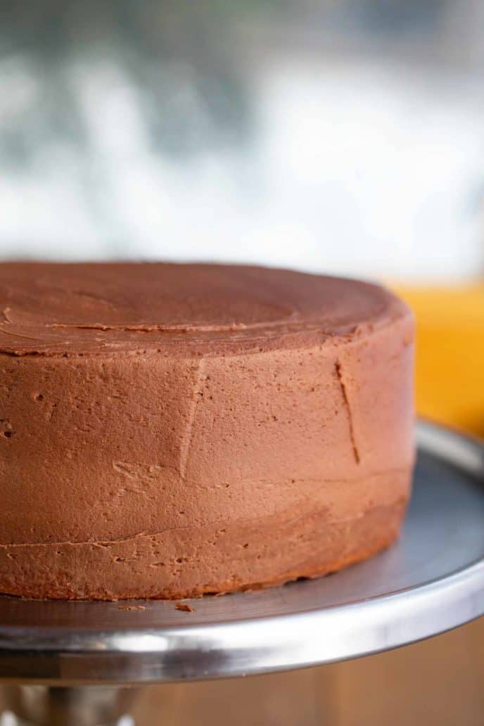 Yellow Cake on cake stand