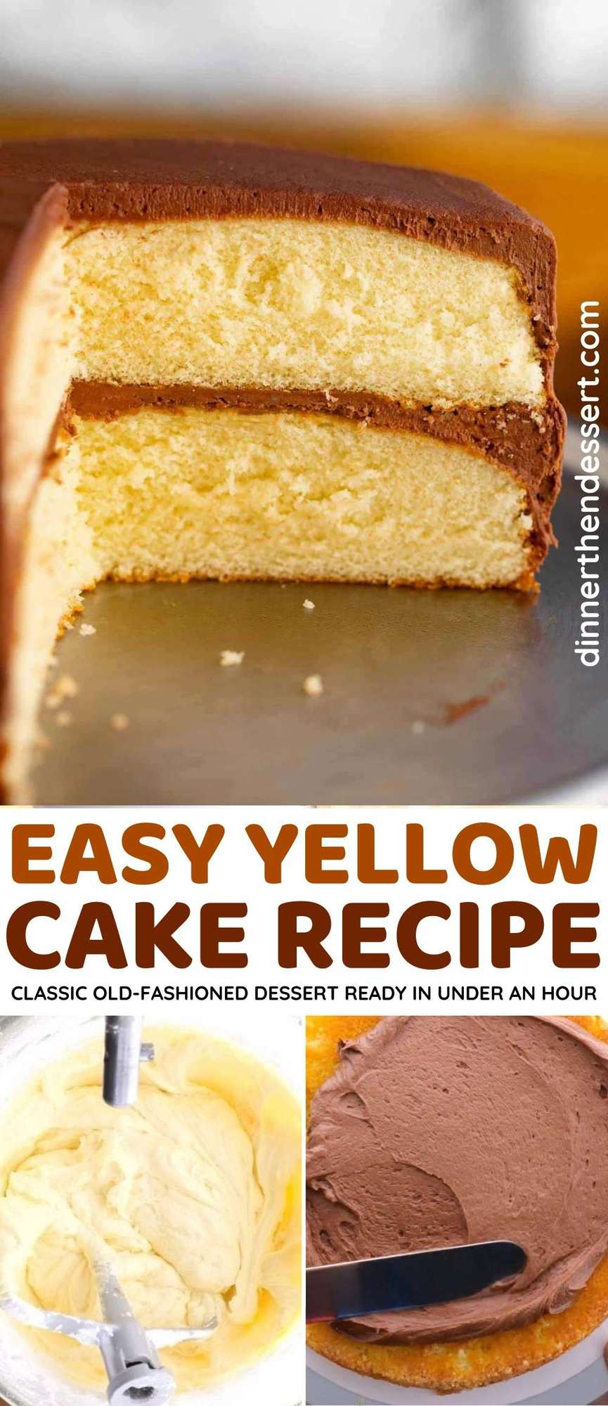 Classic Yellow Cake collage