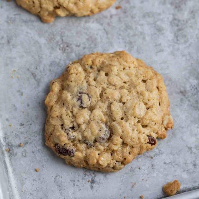 Classic Oatmeal Raisin Cookies on tray