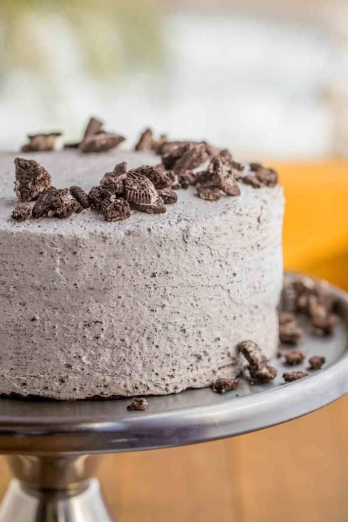 Oreo Cake with Oreo Frosting