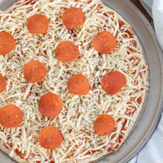 Pizza Dough making Pepperoni Pizza