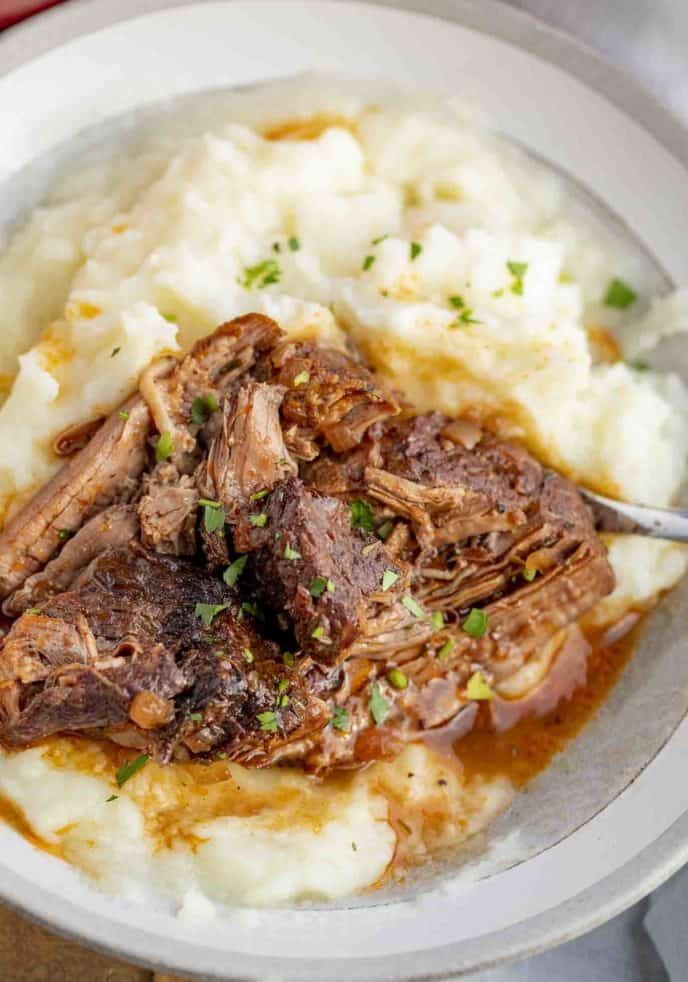 Red Wine Pot Roast and Mashed Potatoes