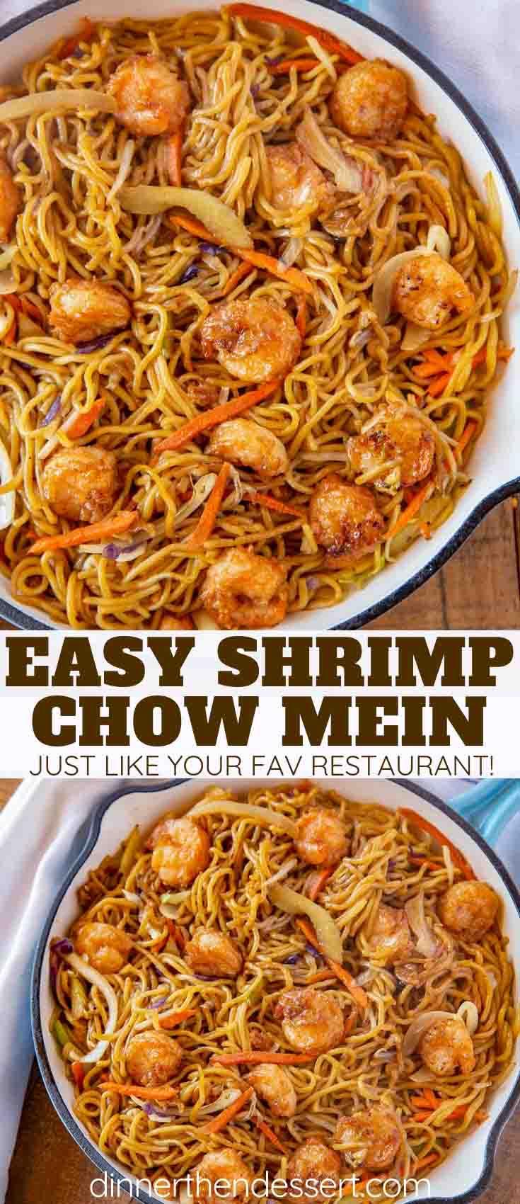 Shrimp Chow Mein Dinner Then Dessert