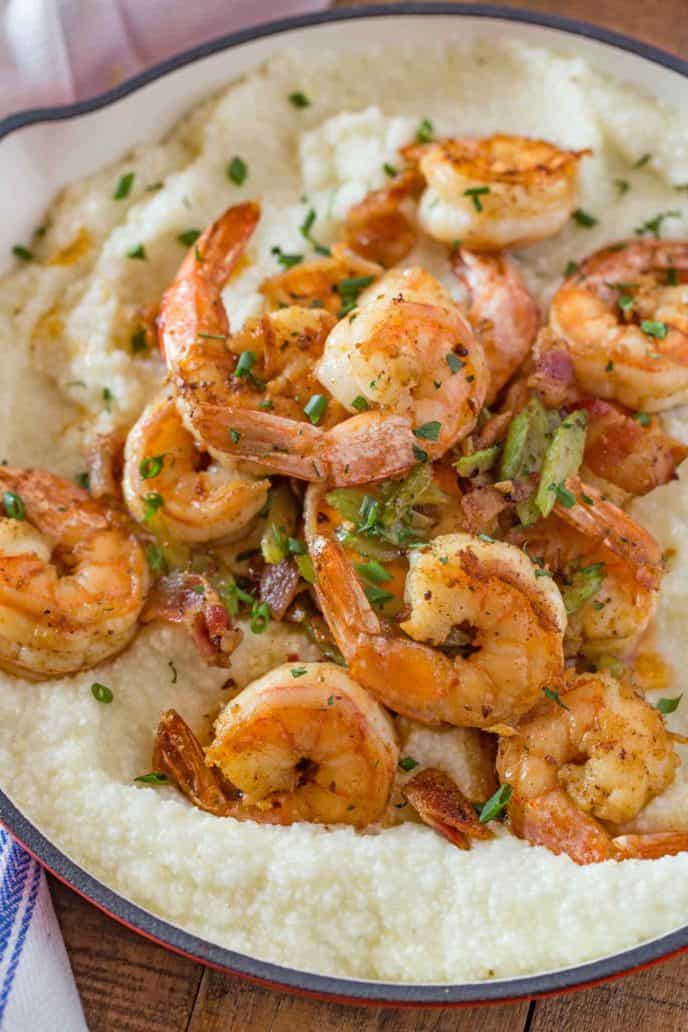 Easy Shrimp and Grits with Creole Seasoning