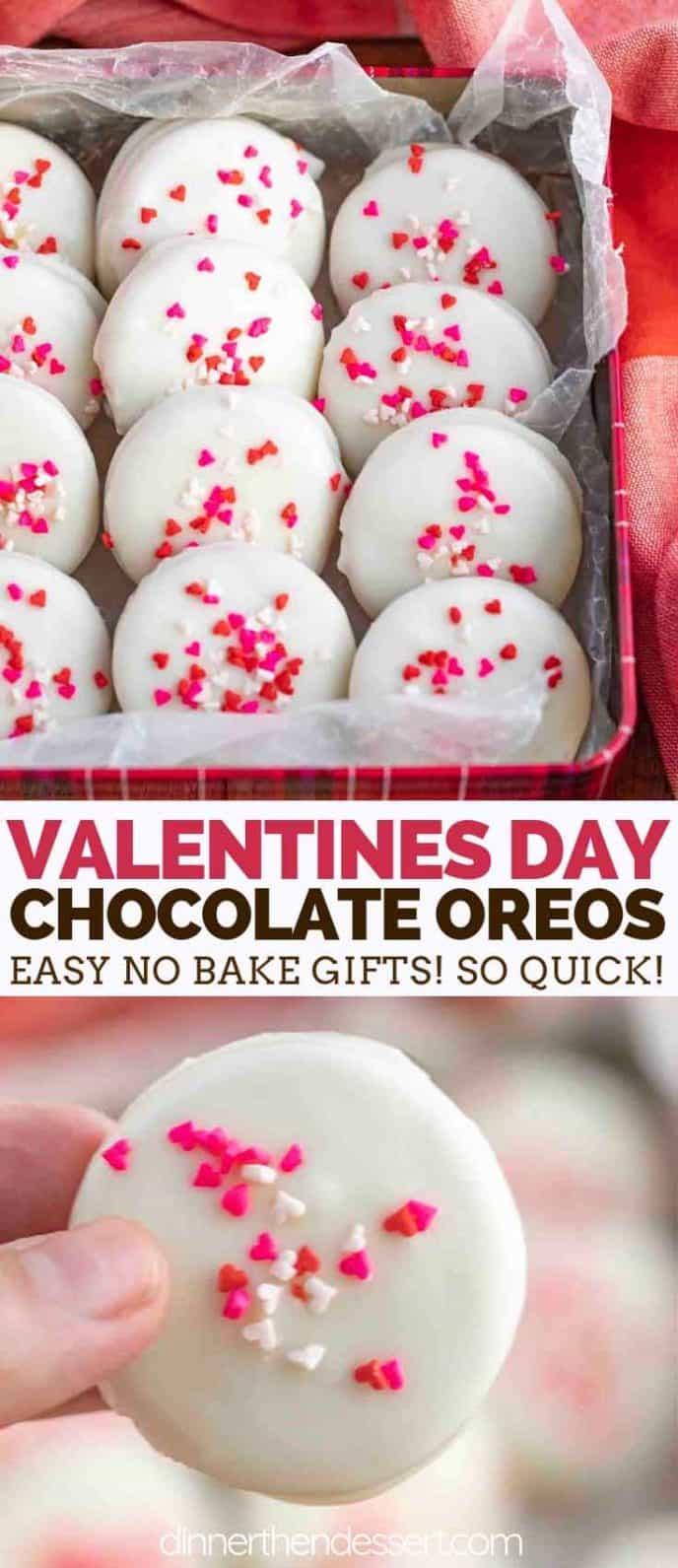 Valentines Day Chocolate Oreos