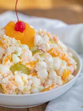 Easy Ambrosia Marshmallow Fruit Cocktail Salad