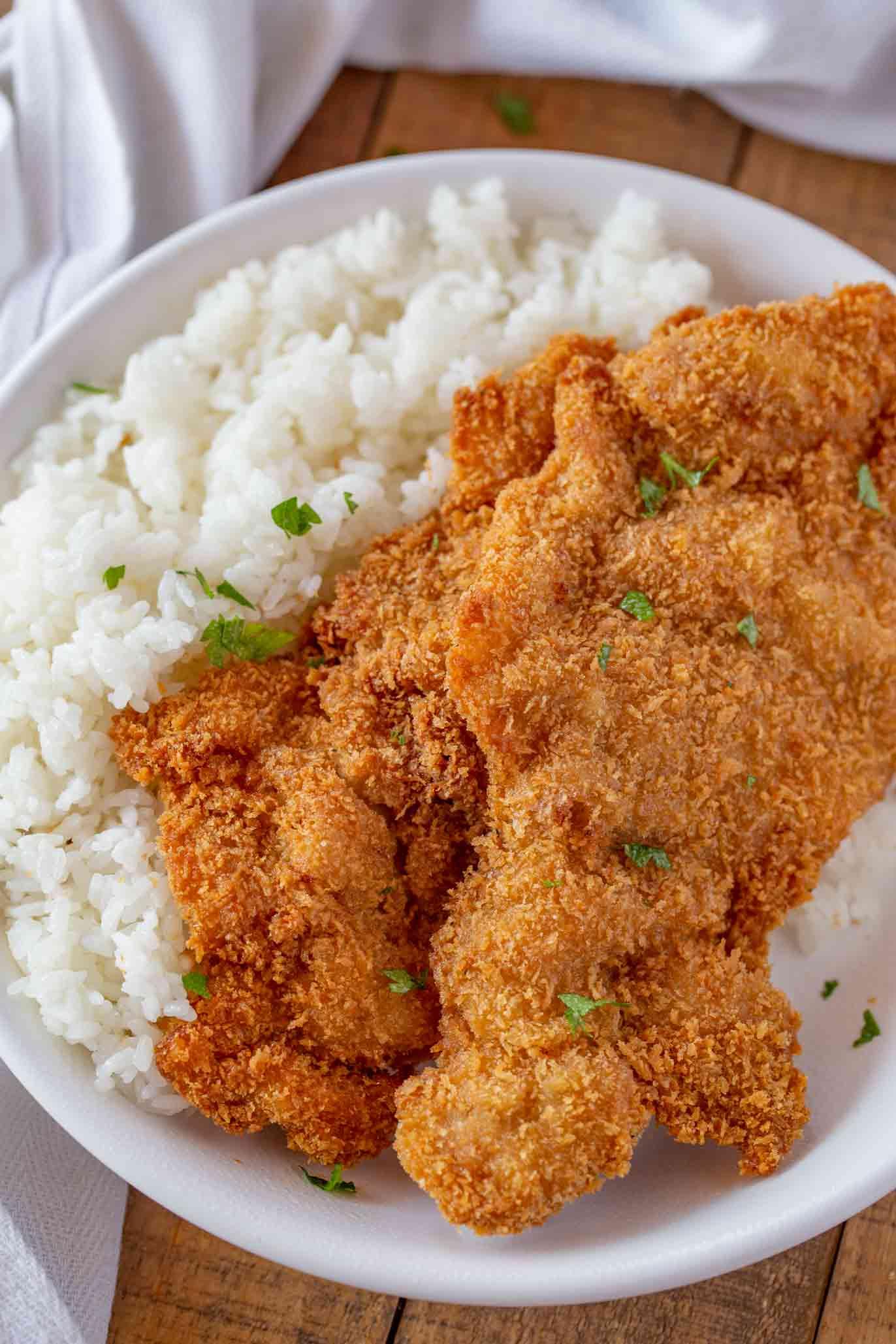 Chicken Katsu Dinner Then Dessert
