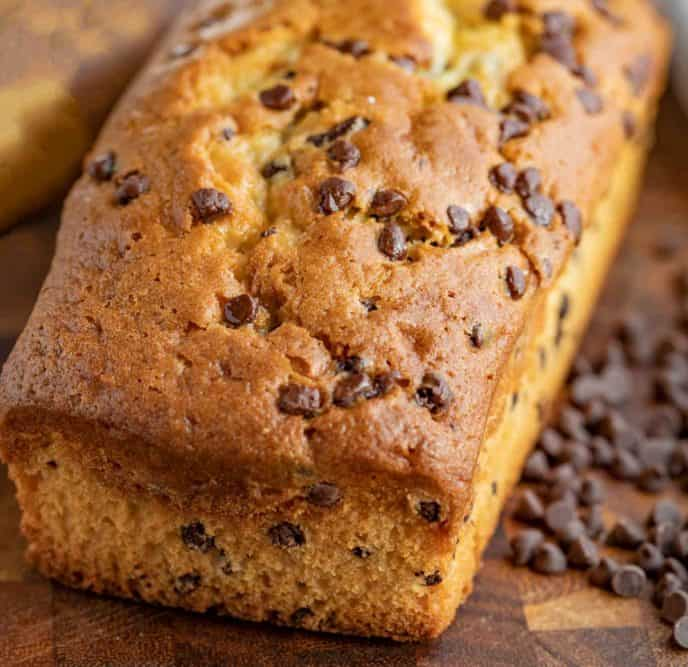 Loaf of Chocolate Chip Pound Cake