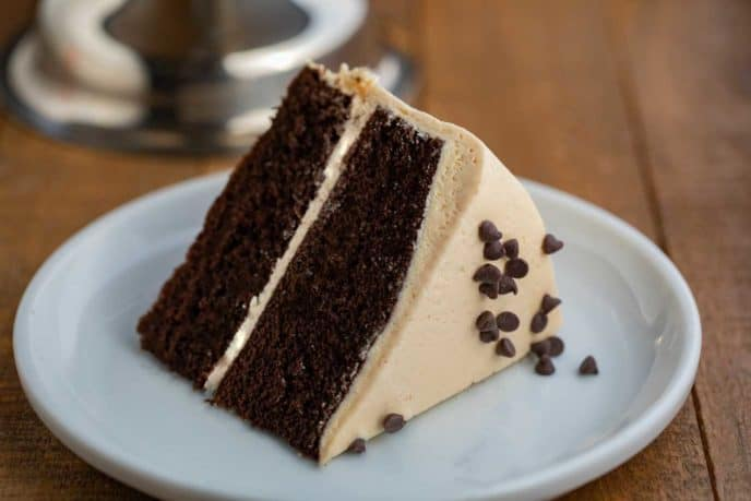 Peanut Butter Frosting with Chocolate Cake