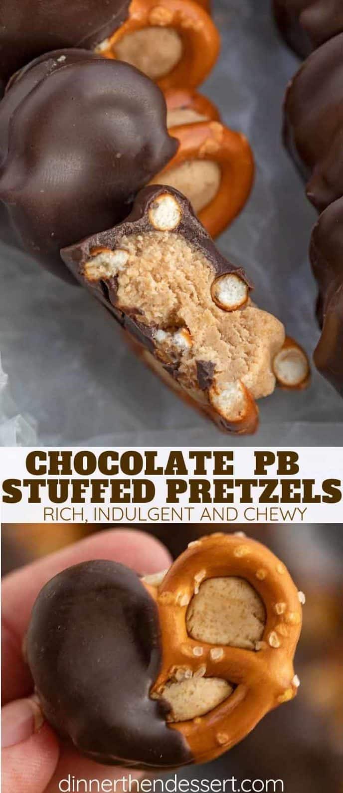 Chocolate PB Pretzel Bites