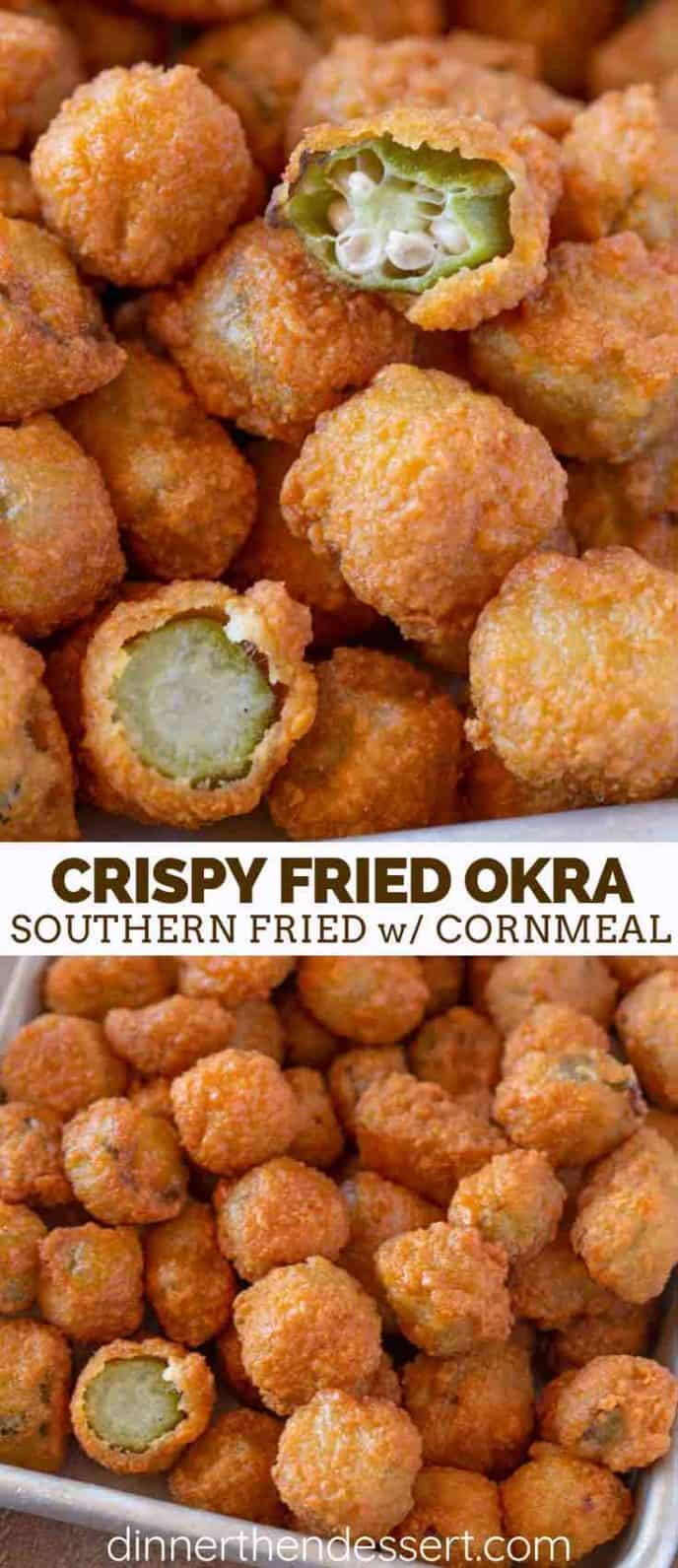Southern Cornmeal Fried Okra