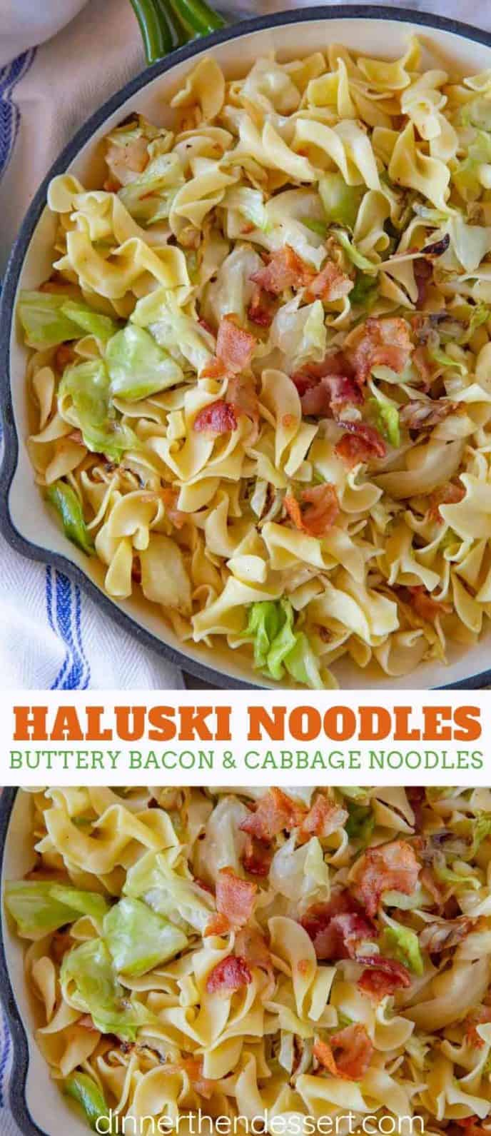 Haluski Noodles with Bacon