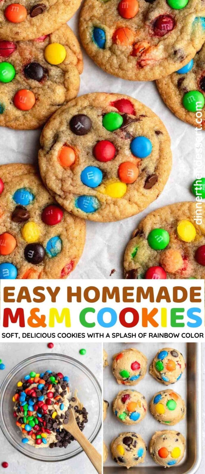 M&M Cookies collage