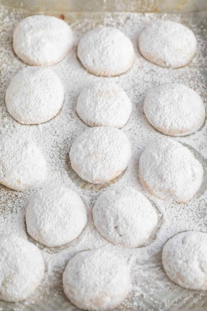 Easy Mexican Wedding Cookies Rolled in Powdered Sugar