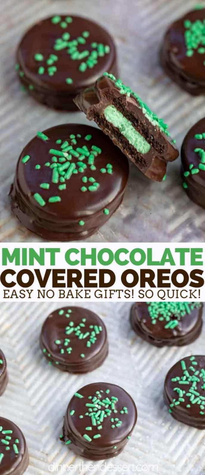 Chocolate Mint Grasshopper Oreos