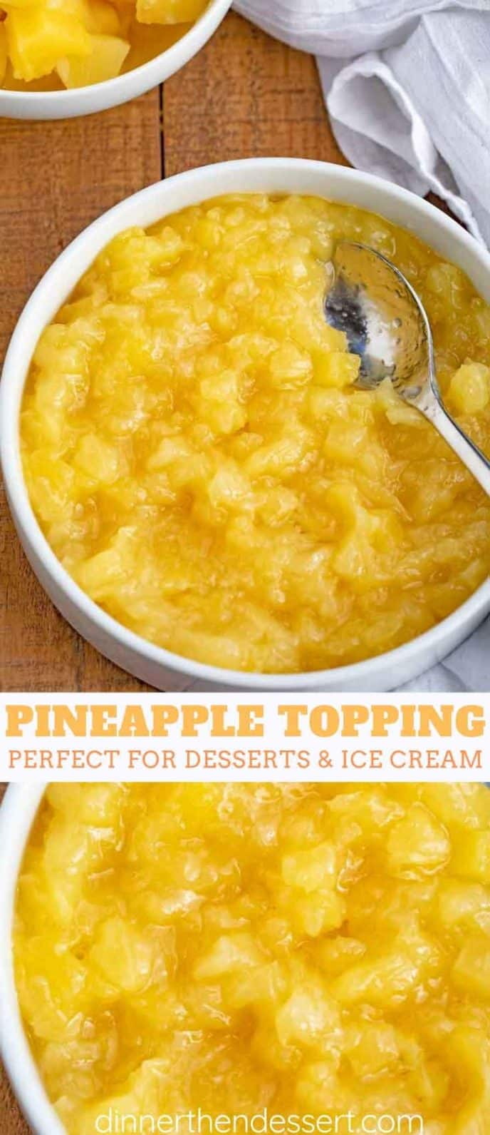 Pineapple Ice Cream Topping