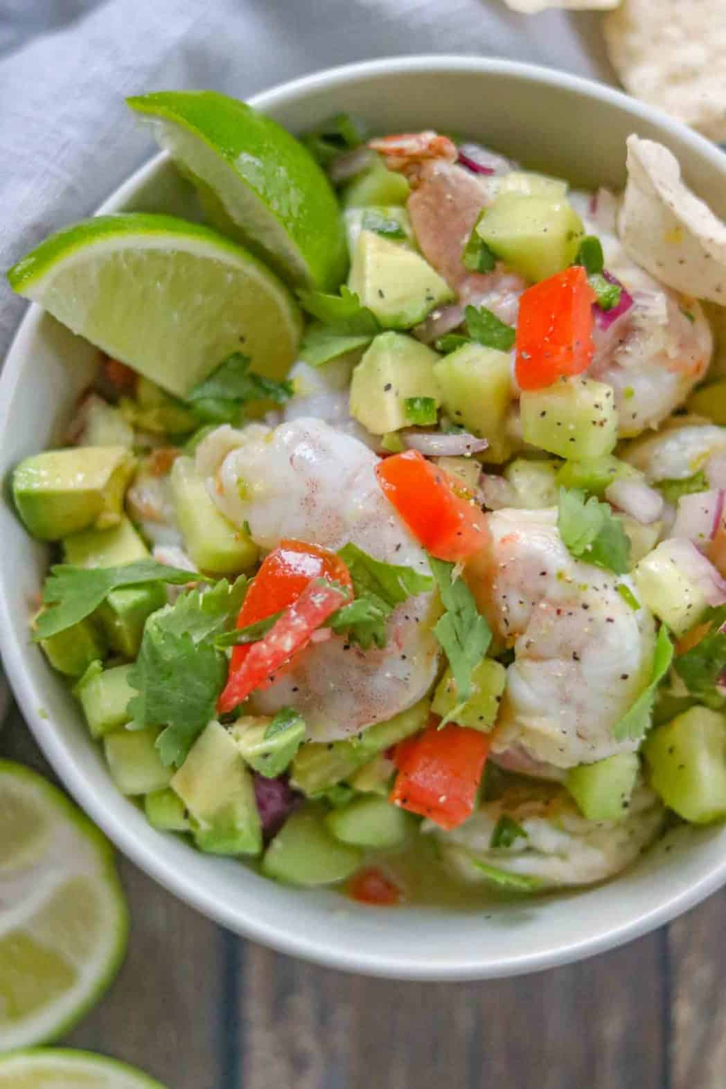 20 minute shrimp ceviche