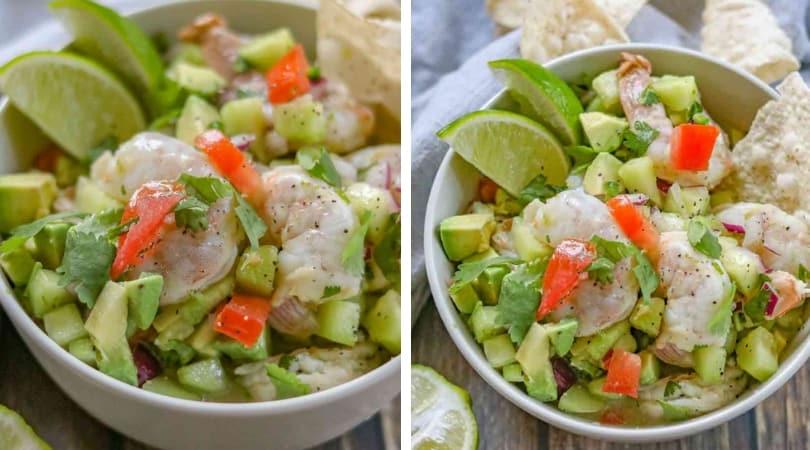 Easy Shrimp Ceviche Dinner Then Dessert