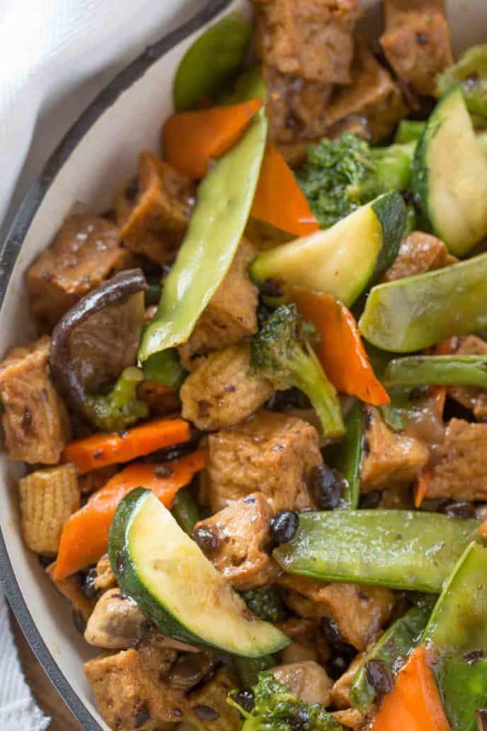 Easy Garlicky Tofu Stir Fry