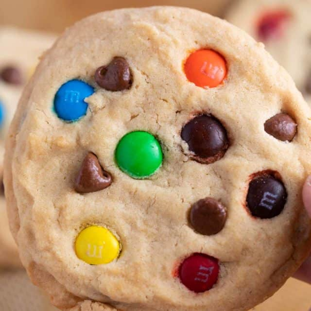 soft baked m&m cookies