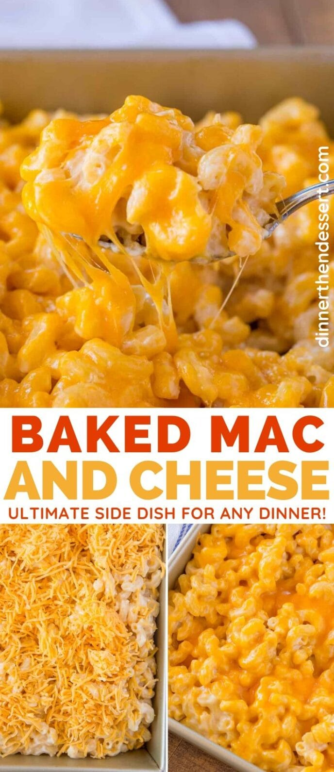 Baked Mac and Cheese collage