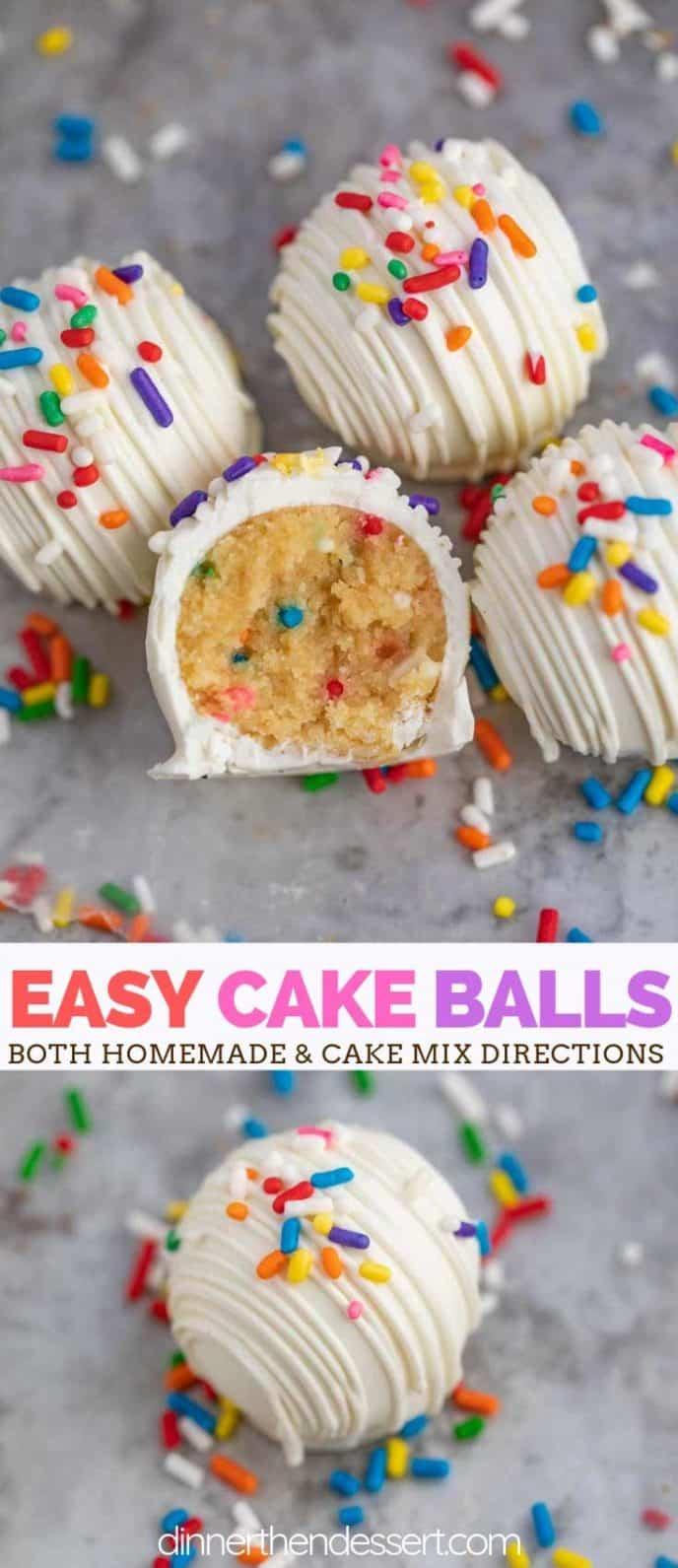 Easy Cake Mix Cake Balls