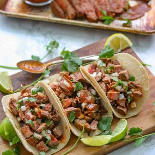 Carne Asada Tacos Dinner Then Dessert
