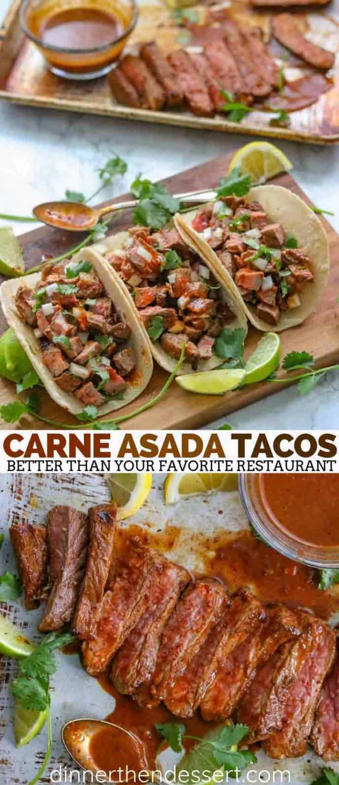 Tacos with Carne Asada