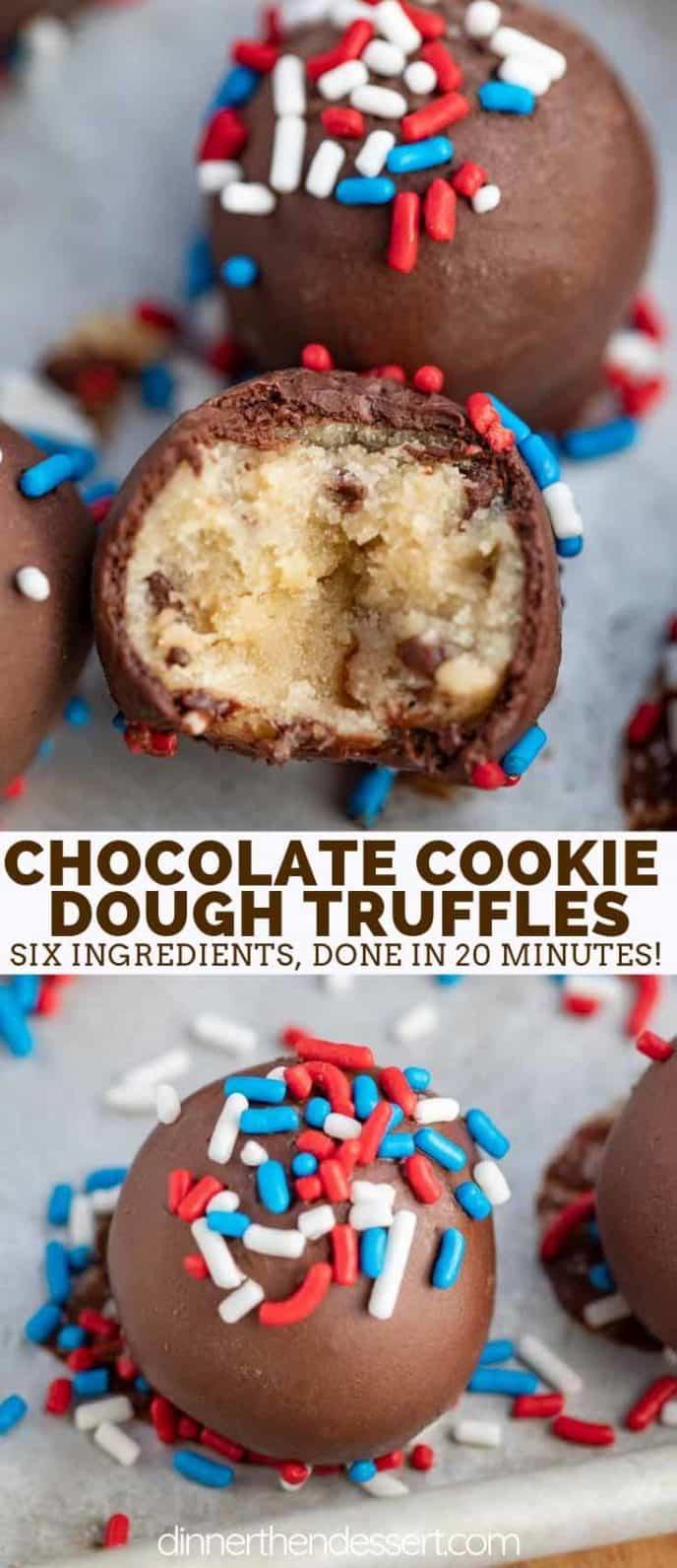 Edible Cookie Dough Chocolate Dipped Truffles