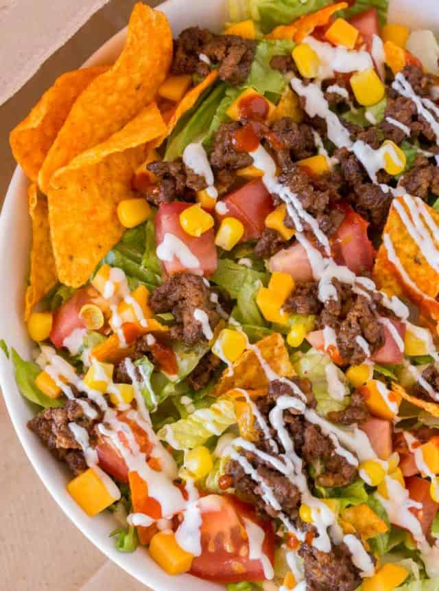 Easy Doritos Taco Salad