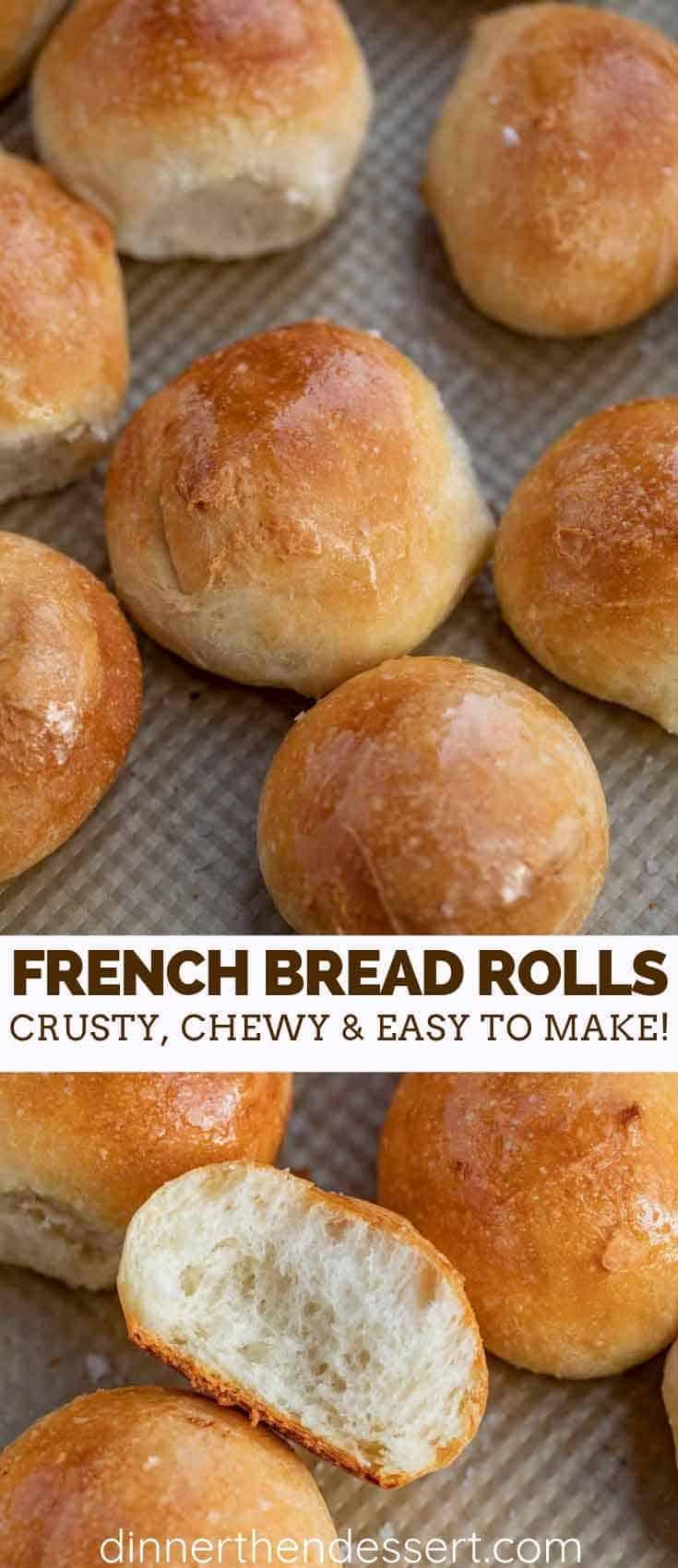 Crusty French Bread Rolls Dinner Then Dessert