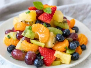 Fruit Salad with citrus honey dressing