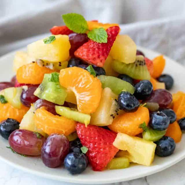 Fruit Salad with citrus honey dressing