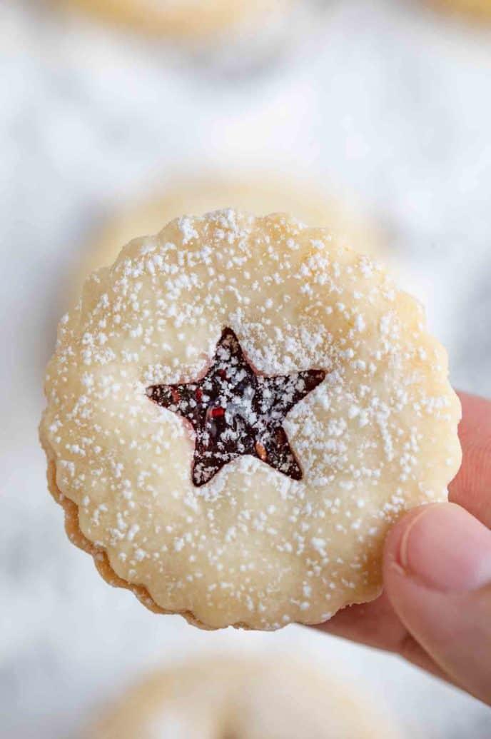 Linzer Cookies Dinner Then Dessert