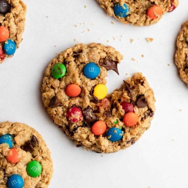 Monster Cookies on baking sheet