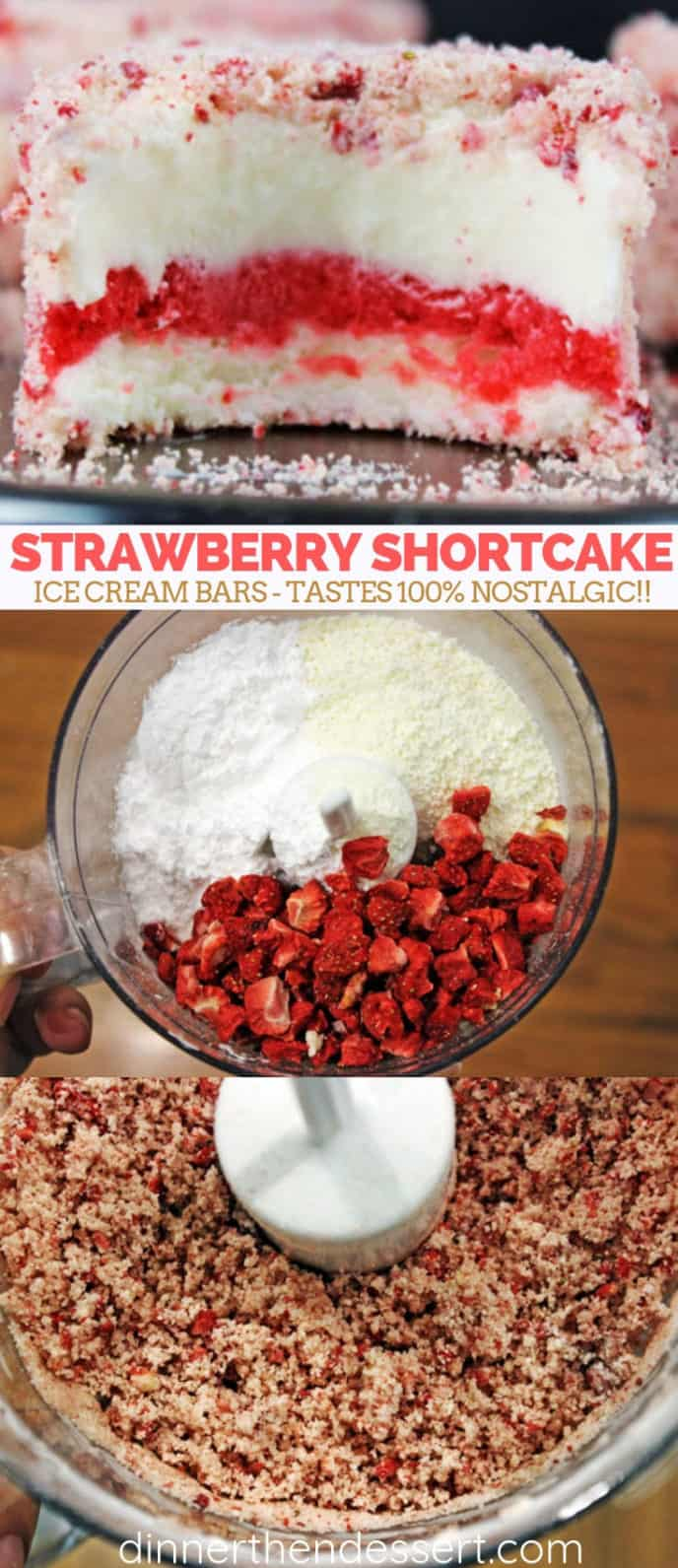 Good Humor Copycat Strawberry Shortcake Ice Cream Bars