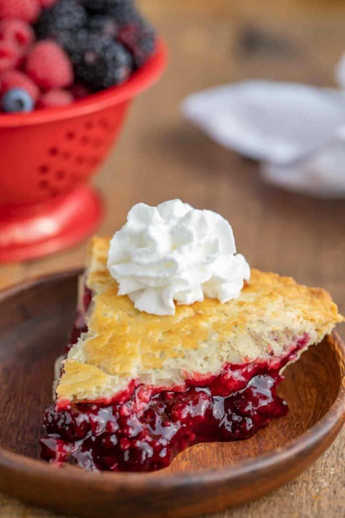Slice of Mixed Berry Pie
