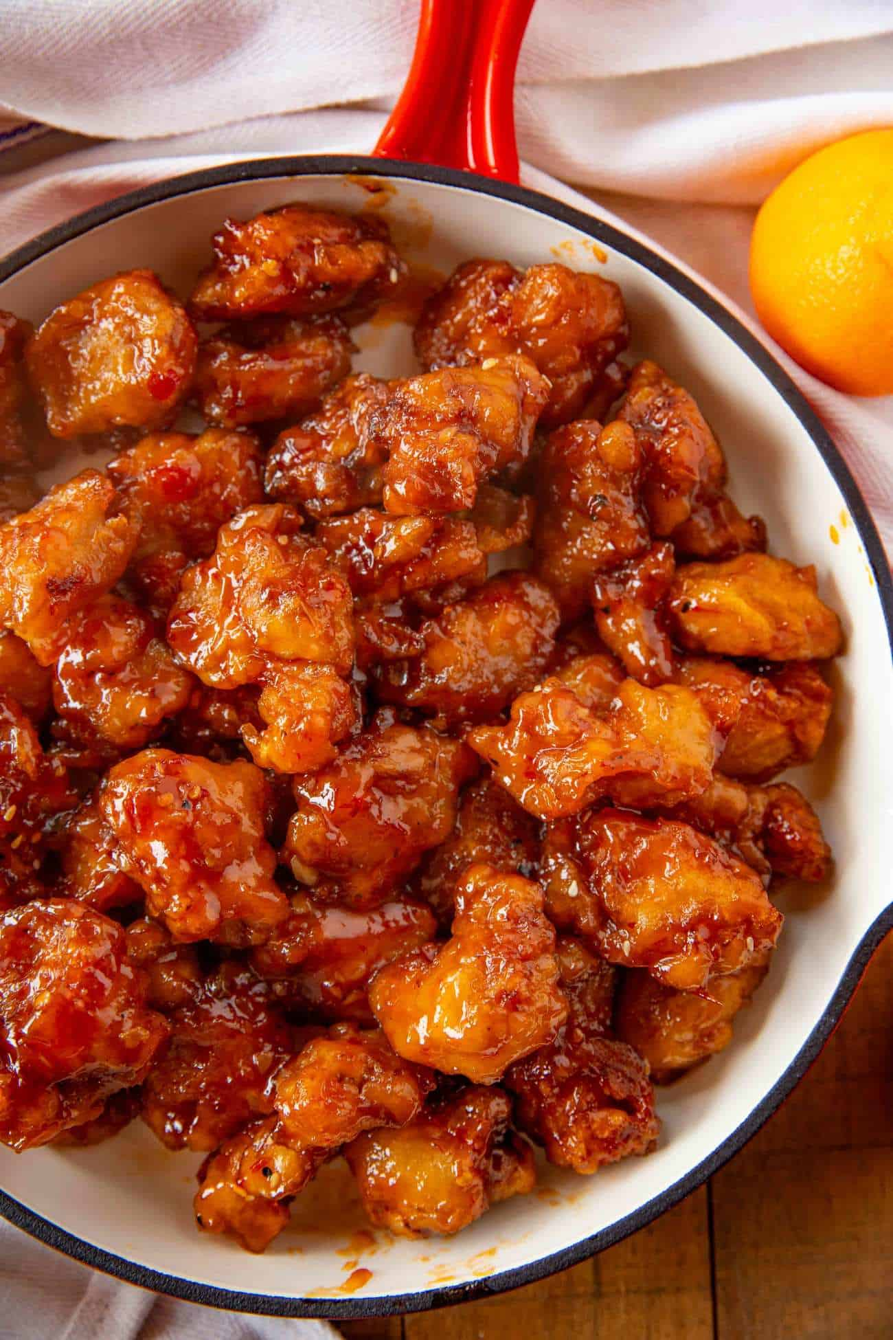 Healthier Easy Baked Orange Chicken Dinner Then Dessert