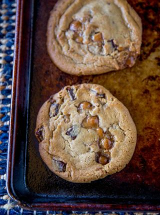 Chocolate Chip Cookies with Caramel Bits