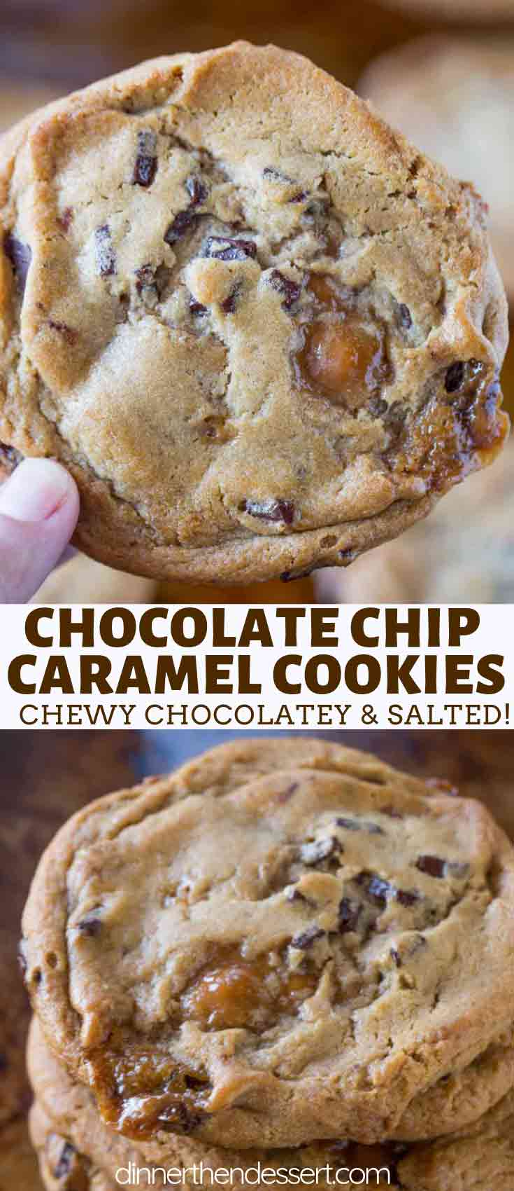 Cookies with Caramel Bits and Chocolate Chips