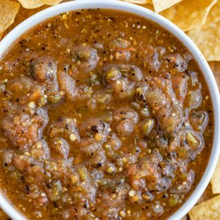Chipotle Tomatillo Green Chili Salsa Copycat