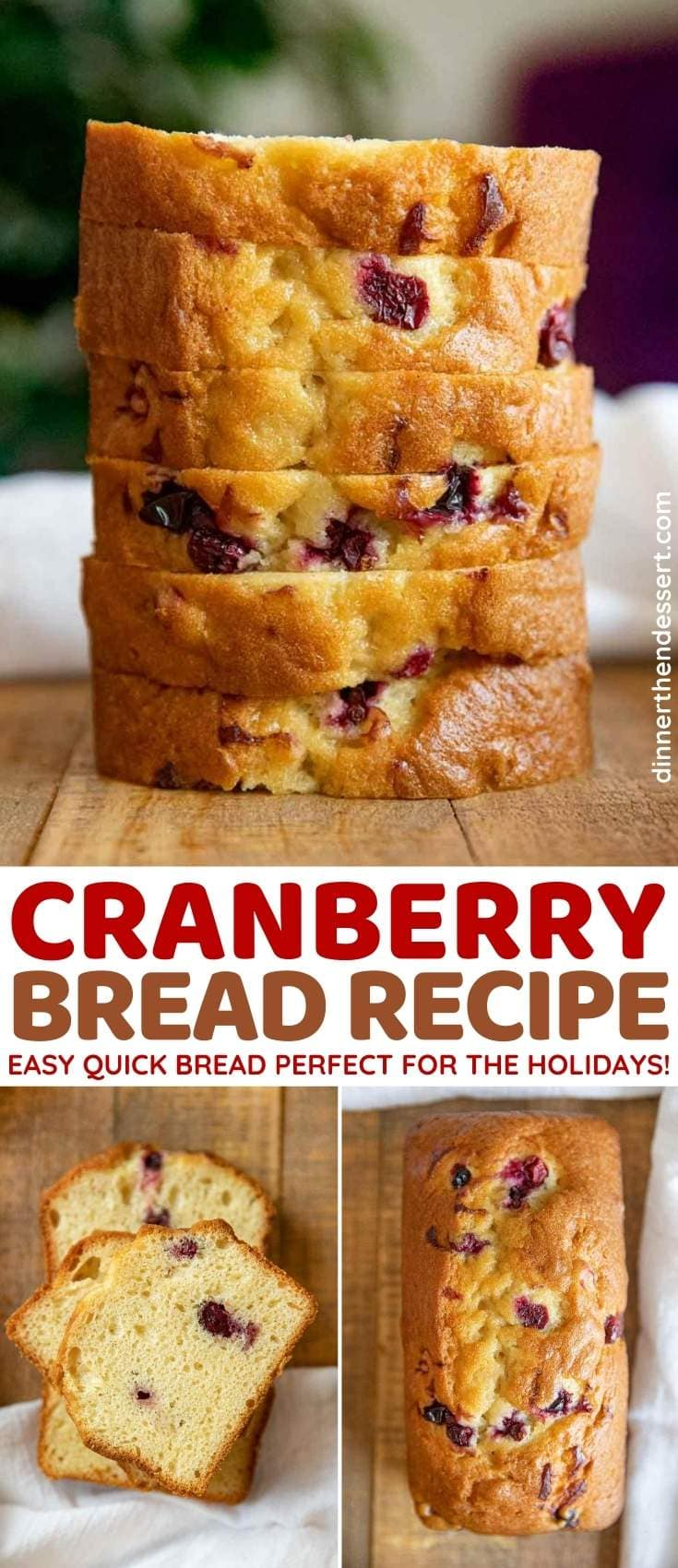 Cranberry Bread collage