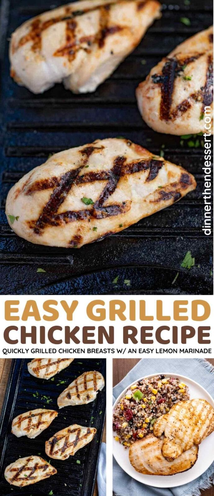 Easy Grilled Chicken Recipe Collage