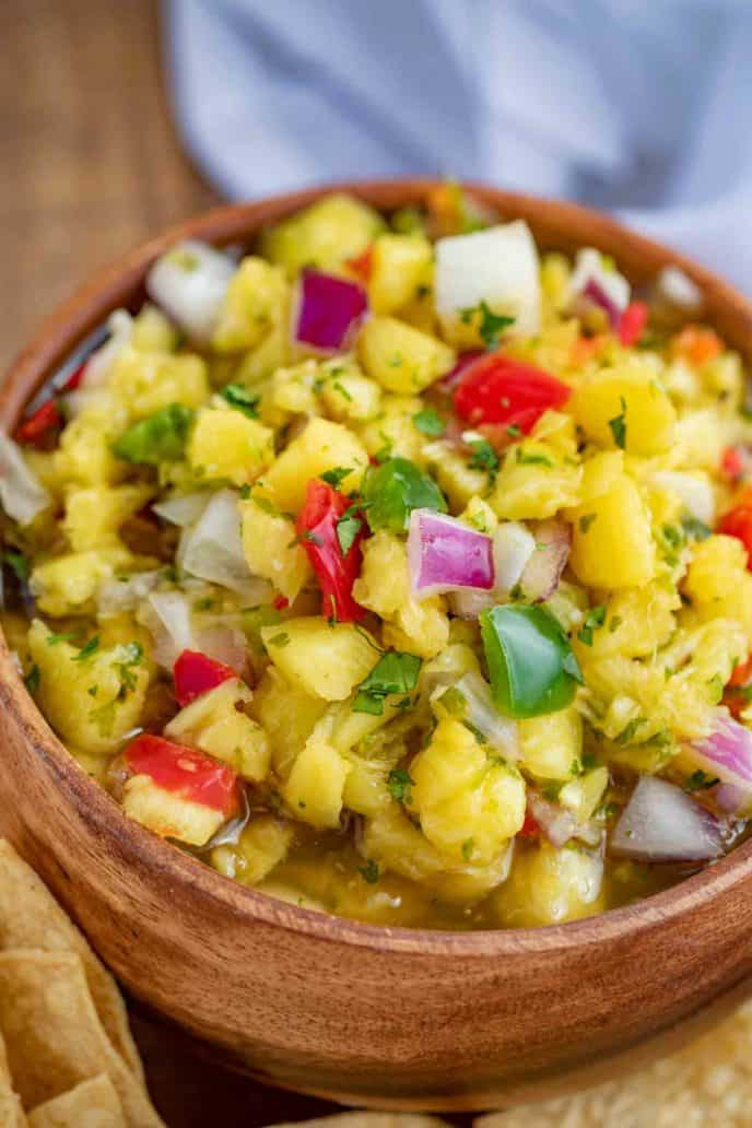 Tropical Salsa with Pineapple