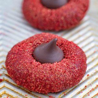 Red Velvet Kiss Cookies