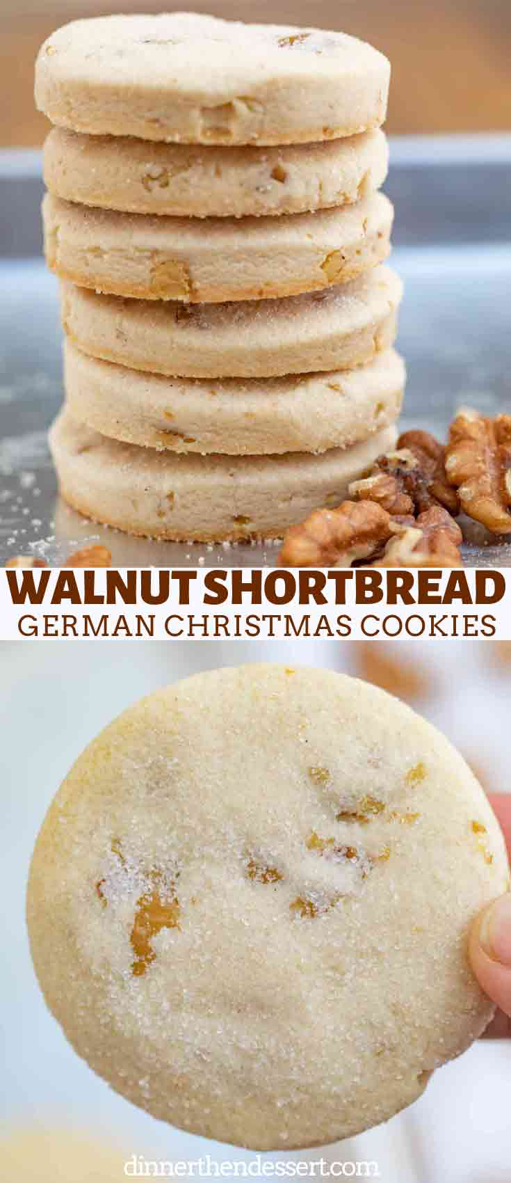 Walnut Shortbread German Christmas Cookies Dinner Then Dessert