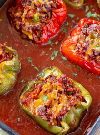 BBQ Beef Stuffed Peppers