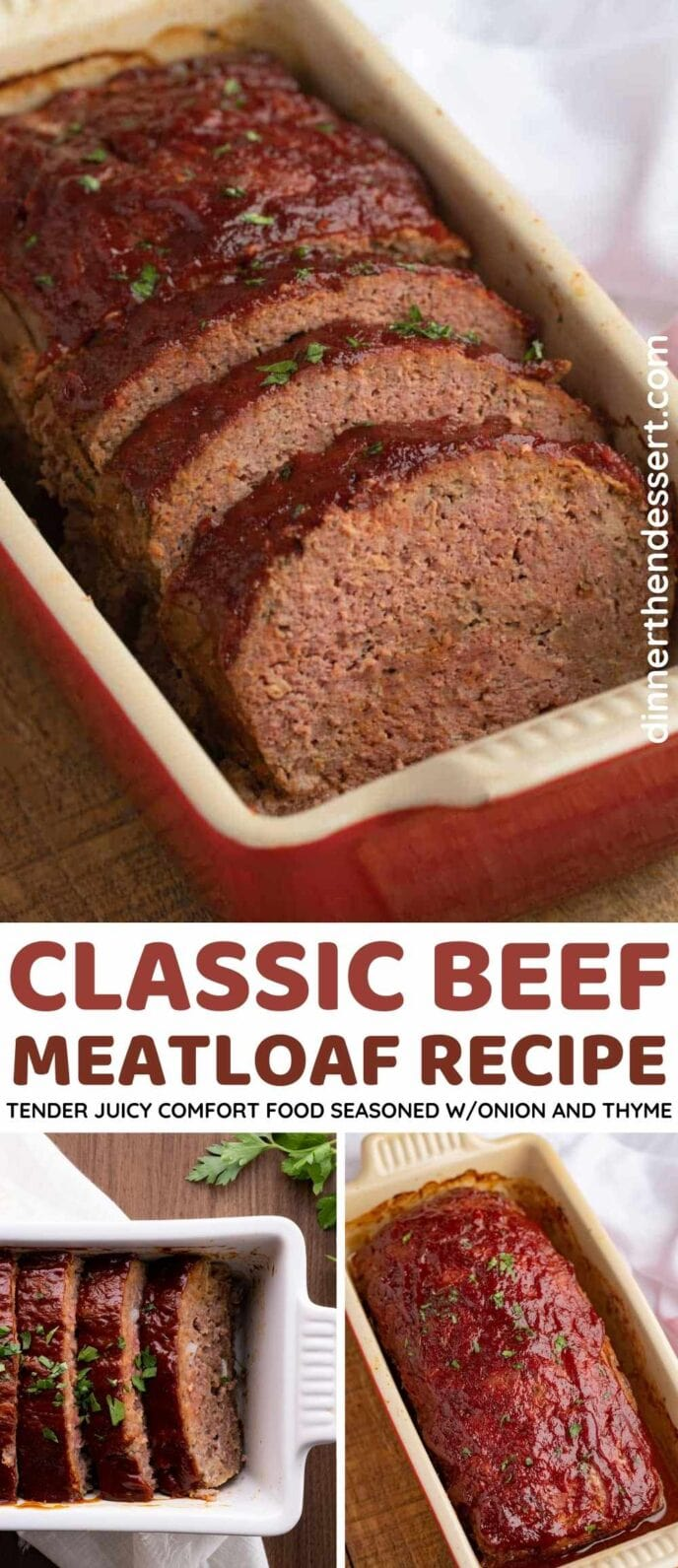 Classic Beef Meatloaf Collage