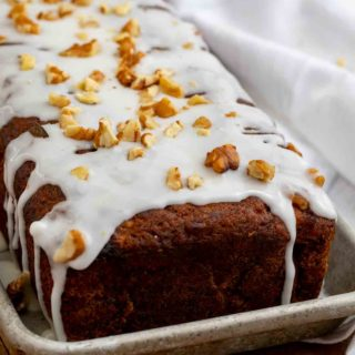 Iced Banana Nut Bread