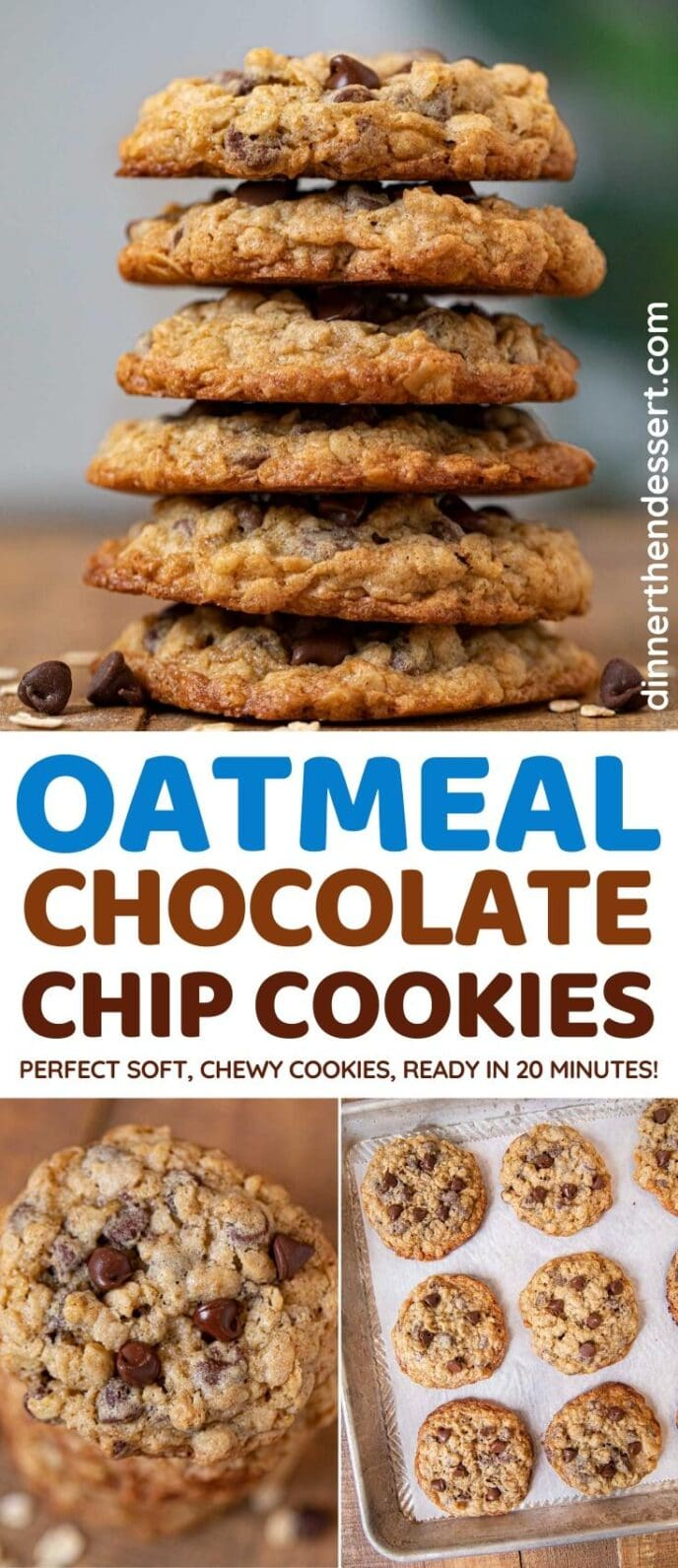 Oatmeal Chocolate Chip Cookies collage